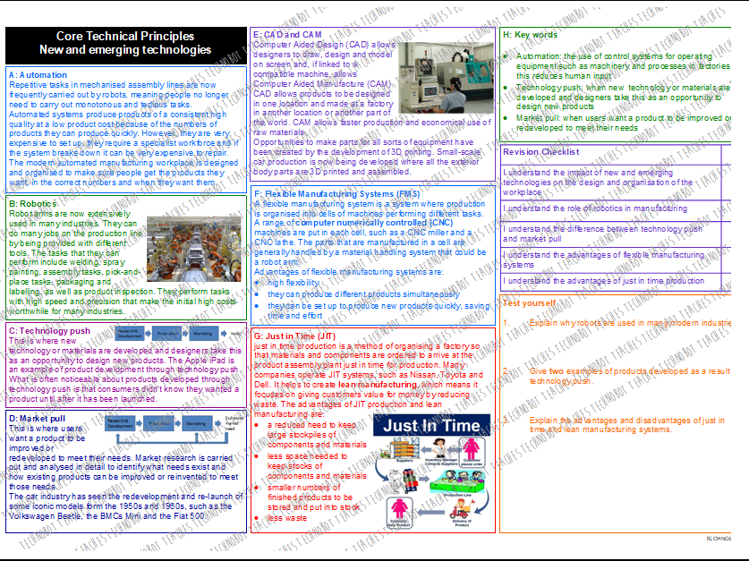 New and Emerging Technologies Knowledge Organiser