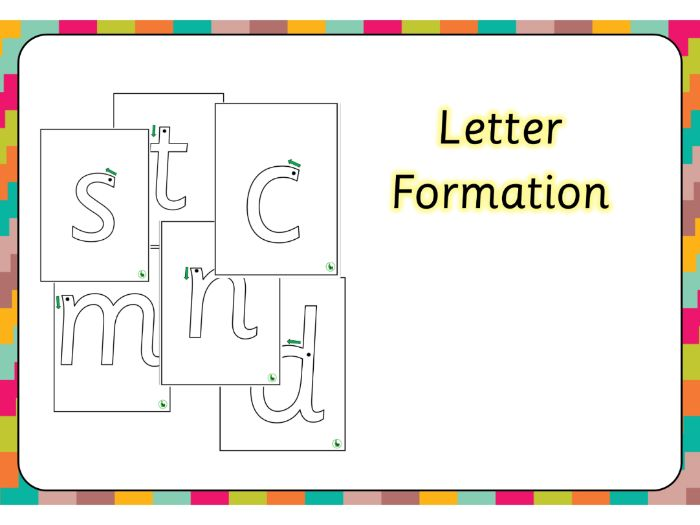 Letter formation -Sassoon Primary Font