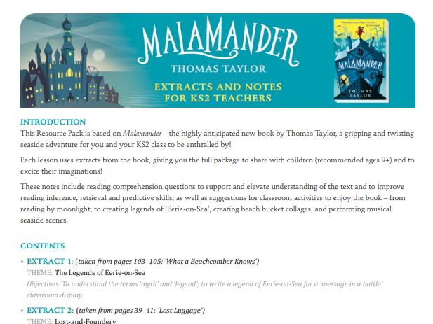 Malamander Teachers' Notes