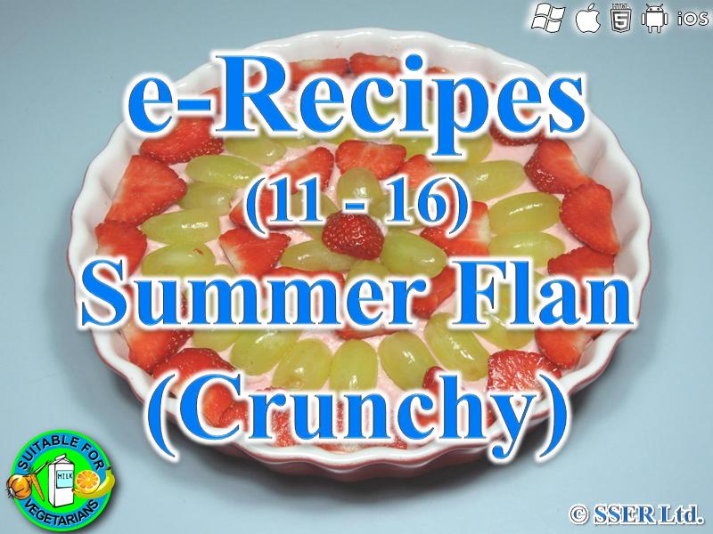 40. Crunchy Summer Flan (e-Recipe)