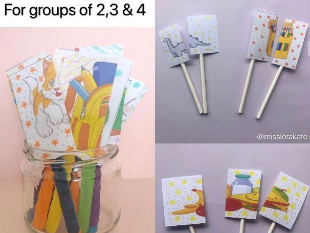 Classroom Management Partner Pickers - 4 different styles! For groups of 2, 3 and 4!