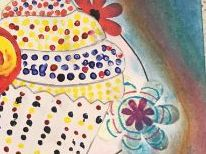 Modern Art movements Project lesson 7 making a cupcake in a Neo-impressionist style