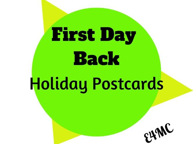 First Day Back Activity: Holiday Postcards - with a difference!