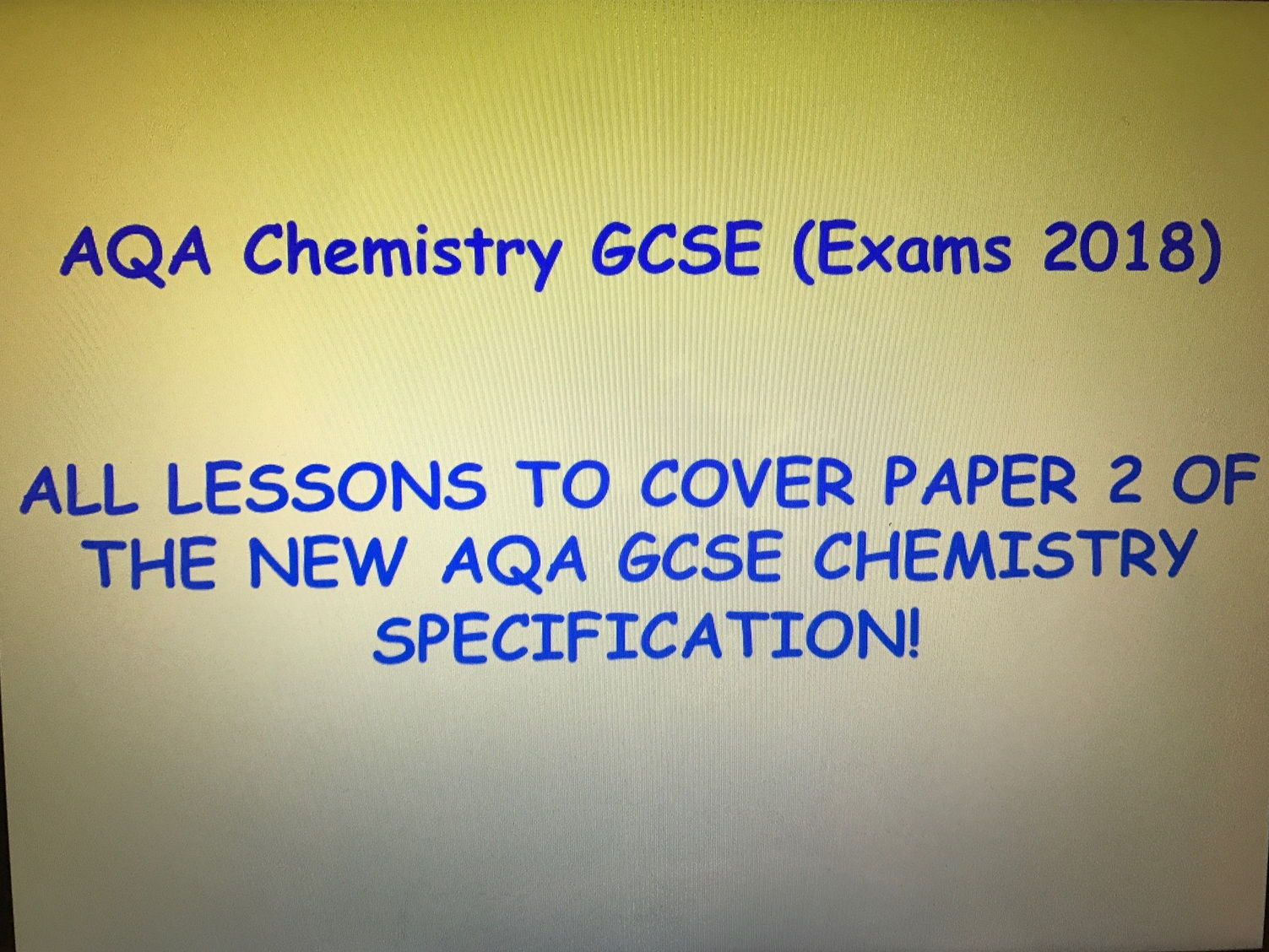 AQA New GCSE Chemistry (Exams 2018) - Entire Paper 2 resource pack
