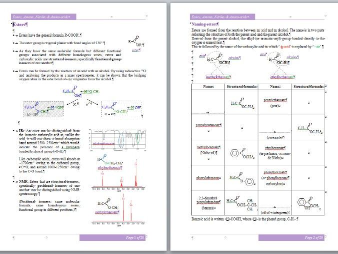 Esters, Amines, Nitriles & Amino Acids Workbook - A-Level Chemistry