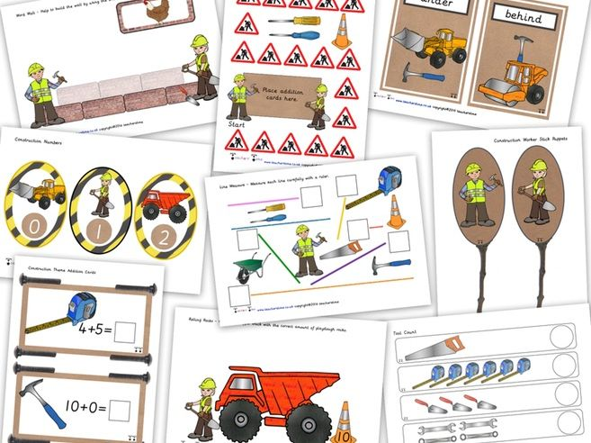 Construction Resource Pack / Bundle Containing 20 Resources