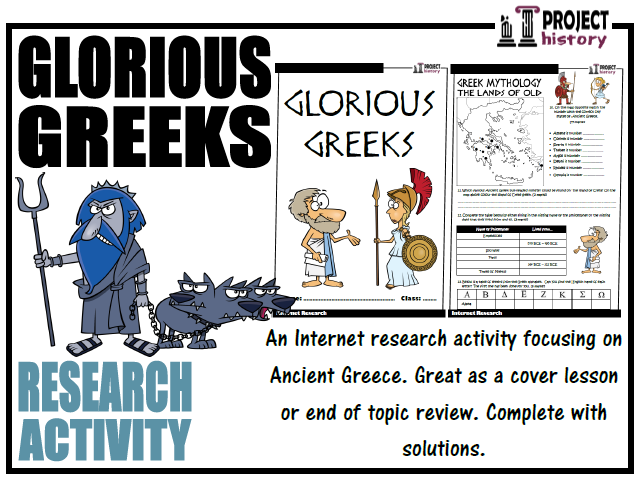 Glorious Greeks Internet Research Activity
