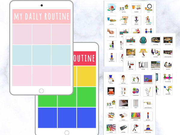 Visual Schedule Bundle [Pastel and Bold]
