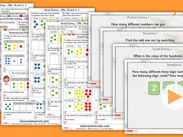 Year 3 100s, 10s and 1s 2 Autumn Block 1 Step 4 Lesson Pack