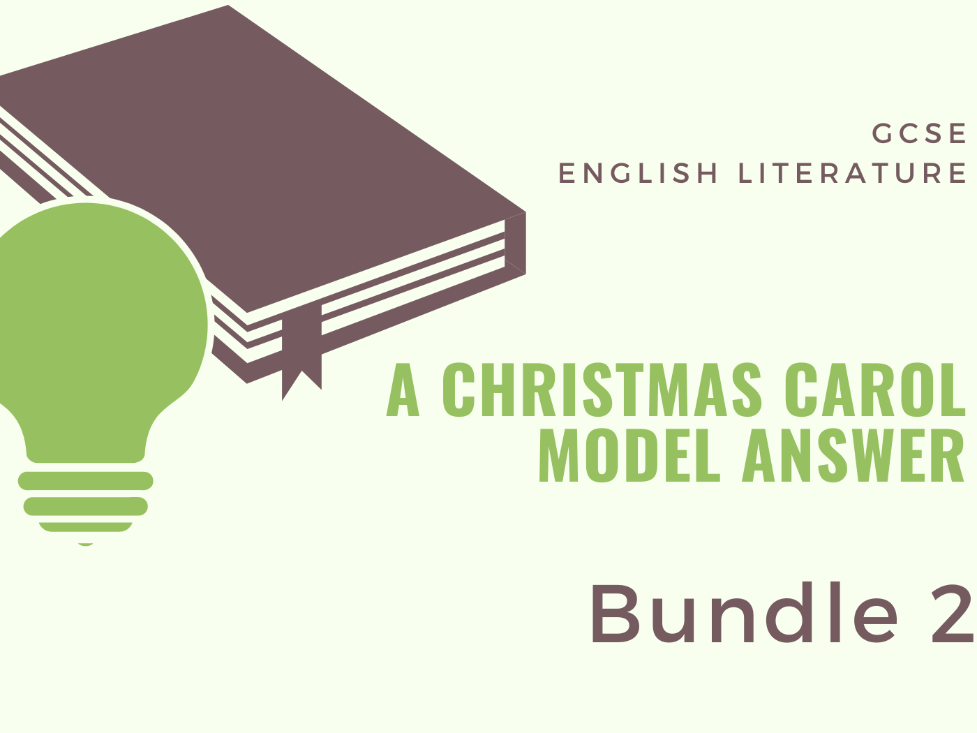 A Christmas Carol Model Answers - Bundle2