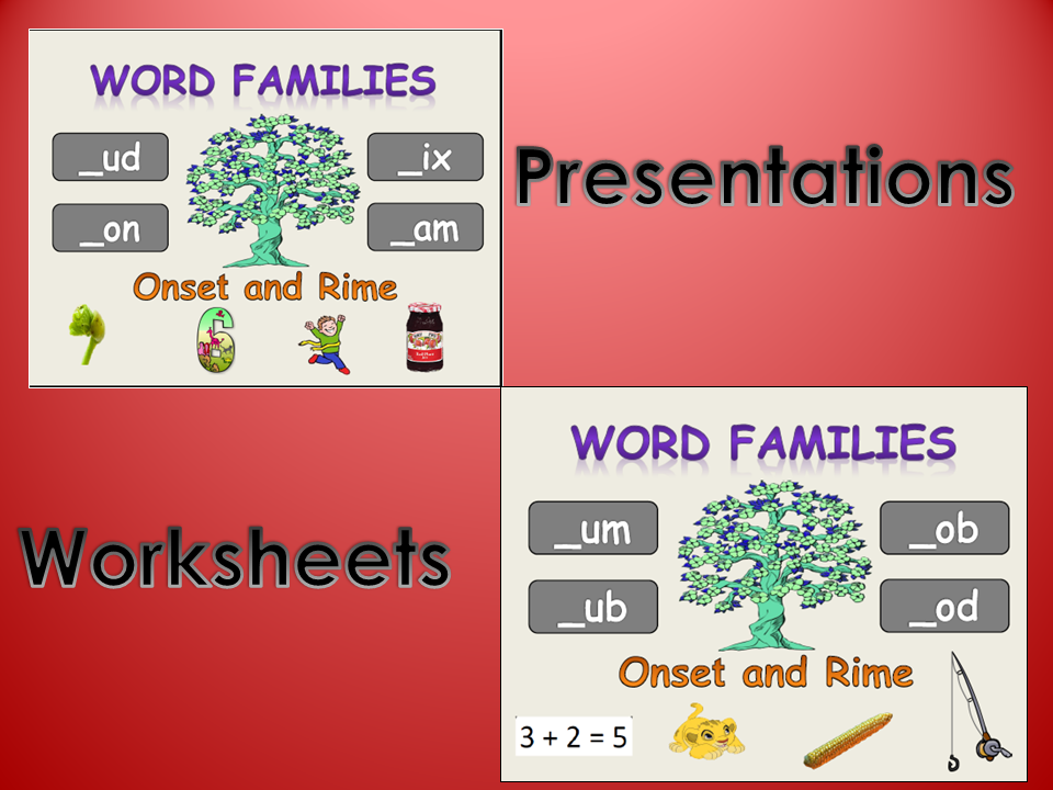 Phonics 2 8 OnsetRime Word Families Rhyme PowerPoint – Onset and Rime Worksheets