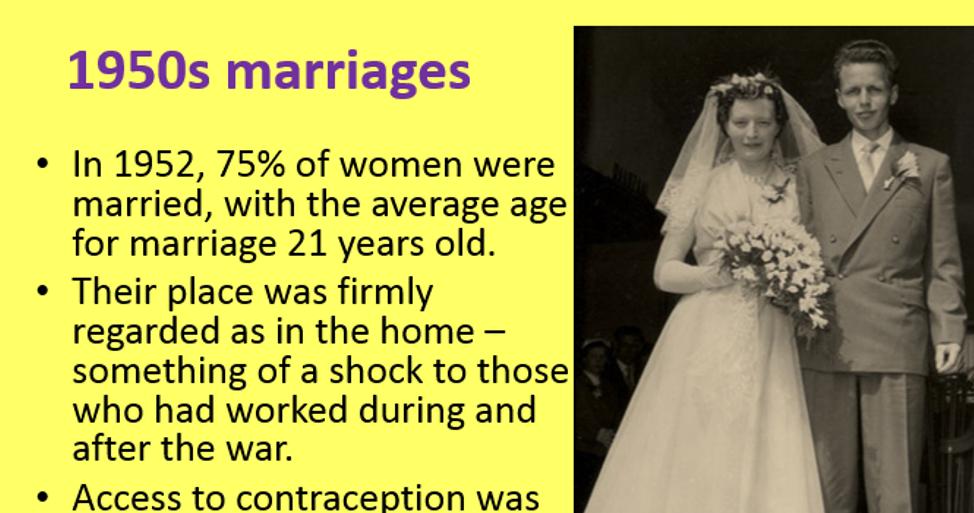 WJEC/Eduqas GCSE History Britain 1951-1979 - The Changing lives of women