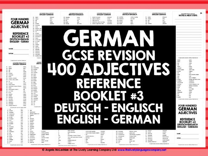 GCSE GERMAN: GERMAN ADJECTIVES REFERENCE #3