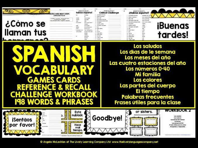 SPANISH VOCABULARY REVISION & PRACTICE 1&2