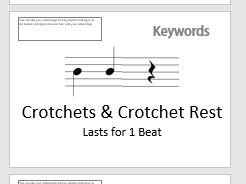 Music Keyword Posters - 86 Pages!