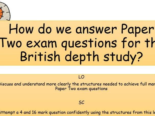 KS4 - Edexcel - Elizabethan England - Exam Question 'How to' and mock assessment