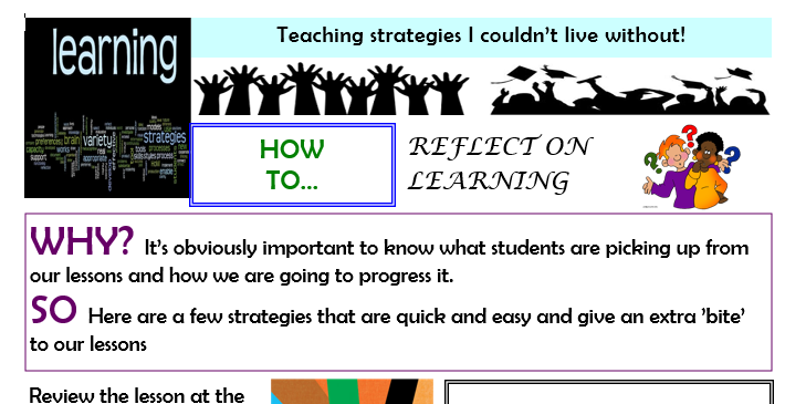 Teaching strategies I couldn't live without - reflecting on learning