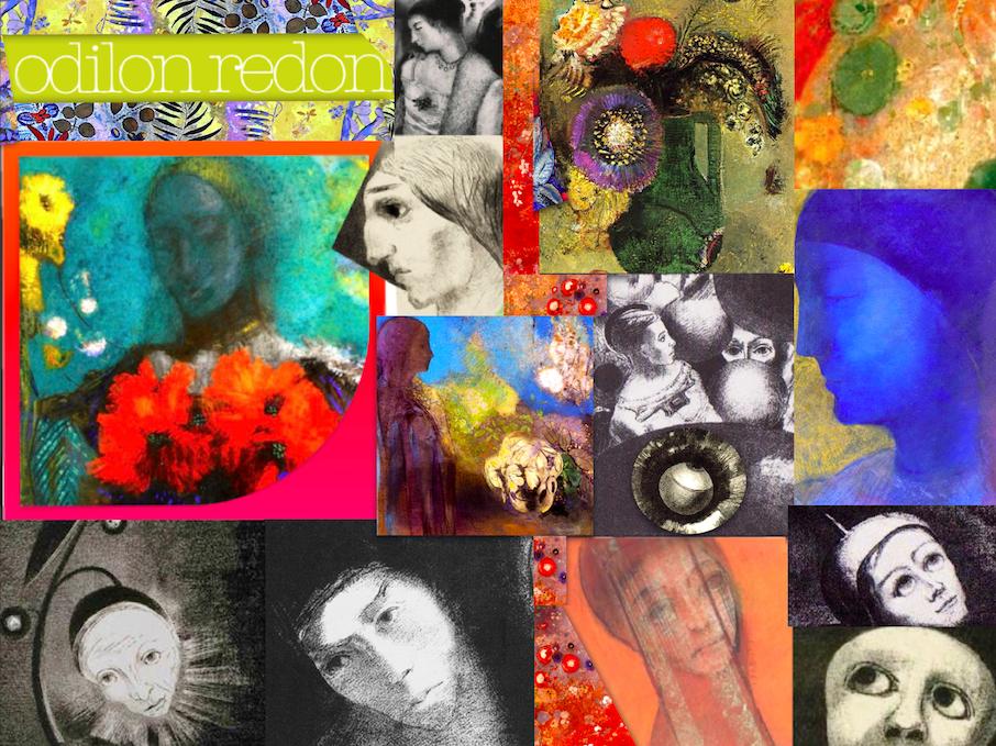 Odilon Redon Art History Symbolism Lithograph Pastel Oil - 188 Slides
