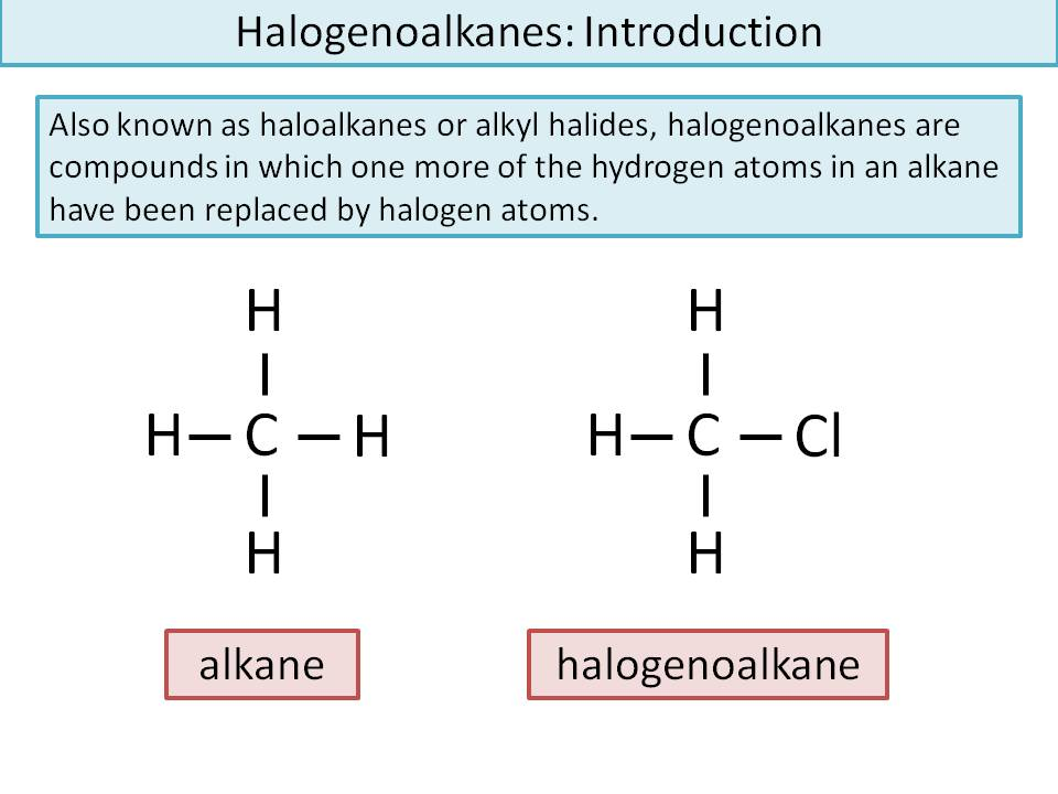Halogenoalkanes/Alkyl Halides: Naming, Substitution, Elimination