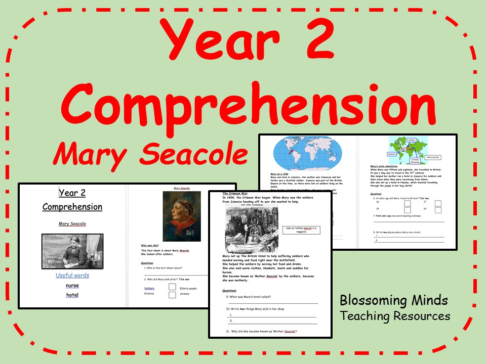 Year 2 comprehension - non-fiction, Mary Seacole