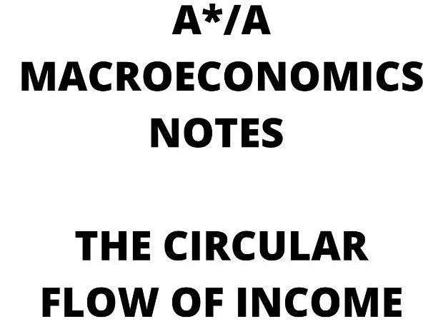 AQA A Level Economics A*/A  - circular flow of income notes