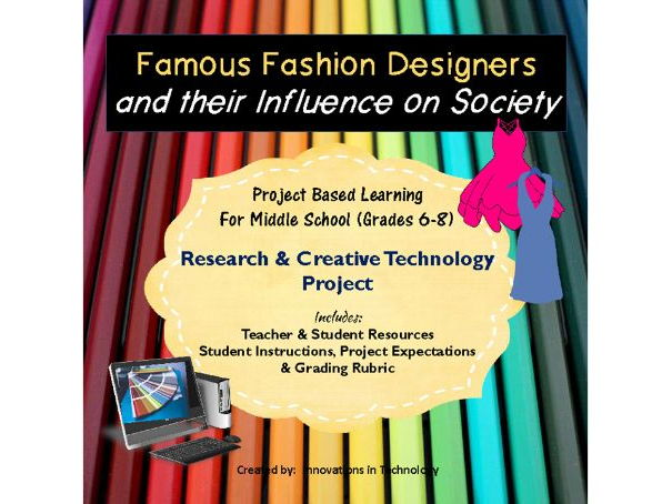 Famous Fashion Designers - Research & Presentation Project