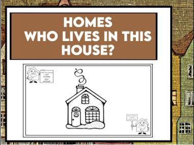 Who Lives in this House? KS1 Worksheets