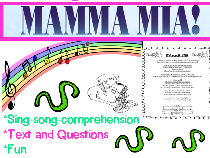 Mamma Mia: Comprehension