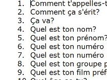 French questions about personal information