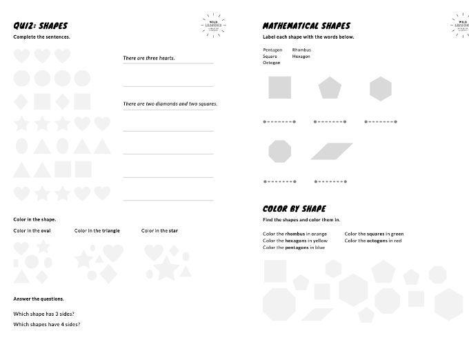 Shapes [Worksheets] Basic & Mathematical Shapes