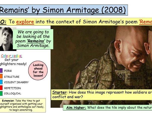 'Remains' by Simon Armitage