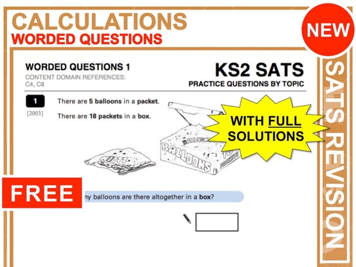 KS2 Maths (Worded Questions)