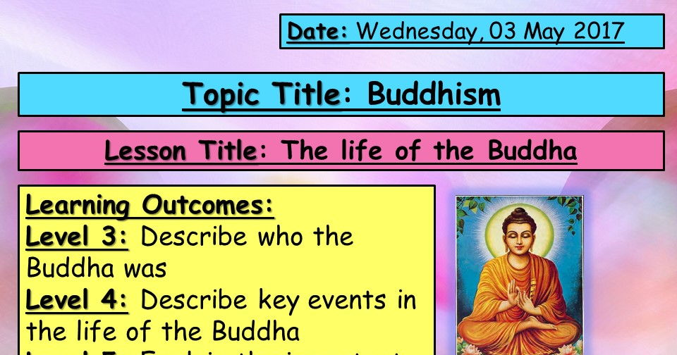 Life of the Buddha - KS3 Buddhism