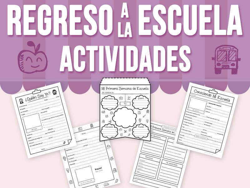 De Regreso a la Escuela - Actividades - SPANISH VERSION