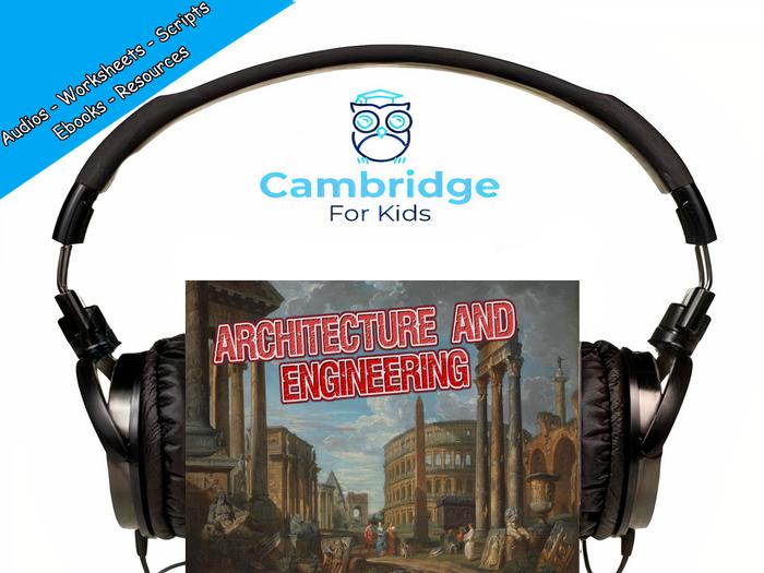 Roman Architecture & Engineering Audiobook & Comprehension Activities / Worksheets / eBooks
