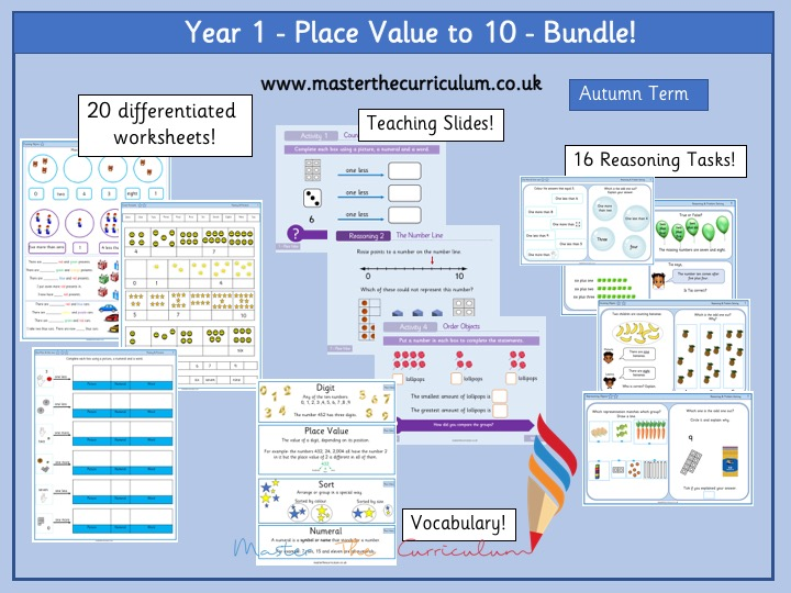 Year 1 - Place Value to 10 Bundle
