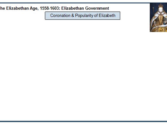 Eduqas GCSE History 'The Elizabethan Age, 1558-1603 - revision flash cards PROFORMAS