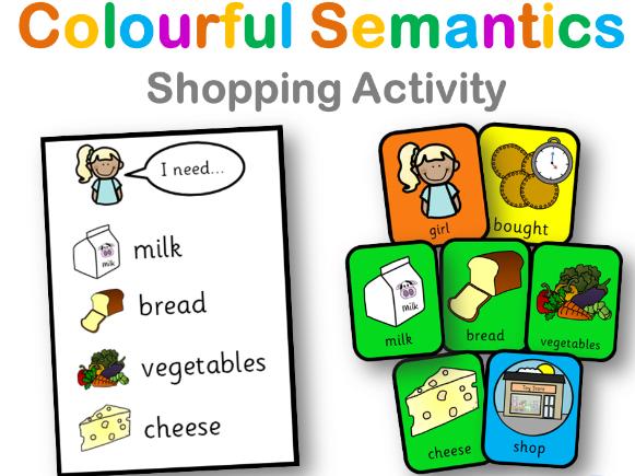 Colourful Semantics: Shopping Game
