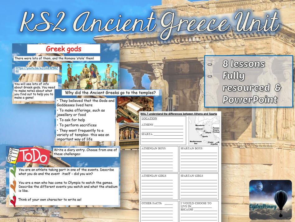 KS2 Ancient Greece Unit - 8 Lessons