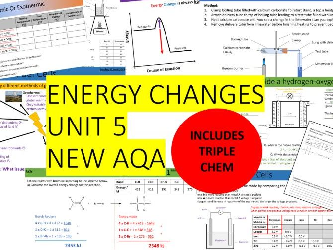 AQA Combined Science Trilogy & Triple - Chemistry Whole Unit 5 - Energy Changes