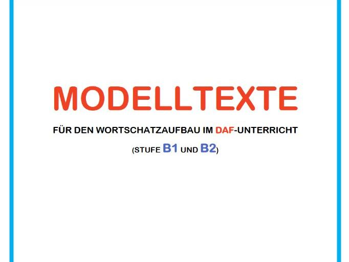 Model texts in German (level B1 and B2)