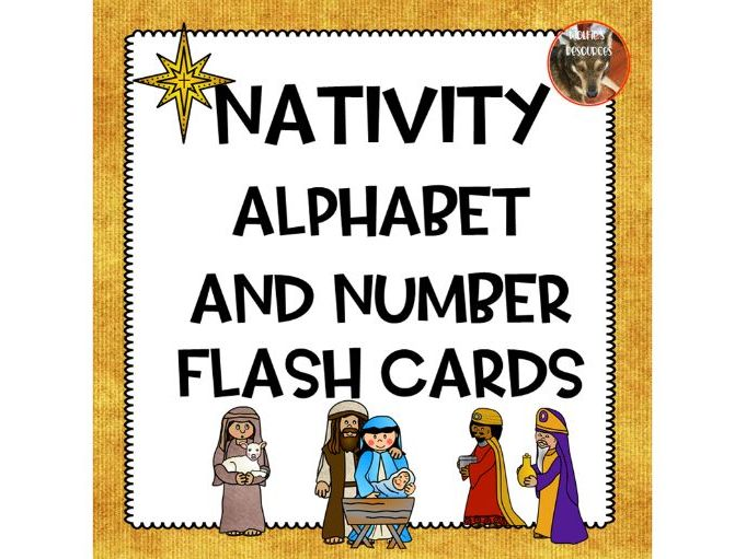 Nativity Alphabet and Number Flash Cards
