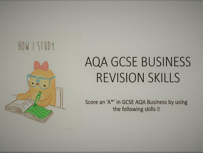 GCSE AQA Revision skills book markers