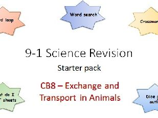B8 Exchange and Transport in animals Revision starter pack Science 9-1