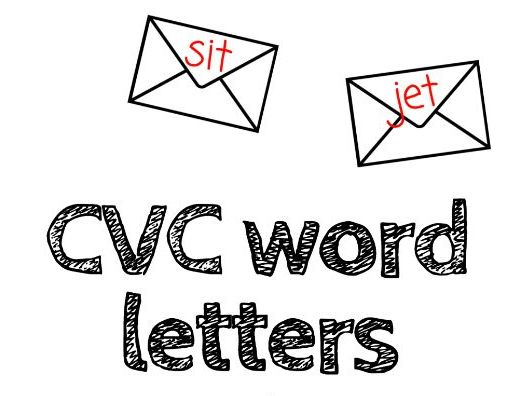 CVC Word letters (Post office role play and topic)