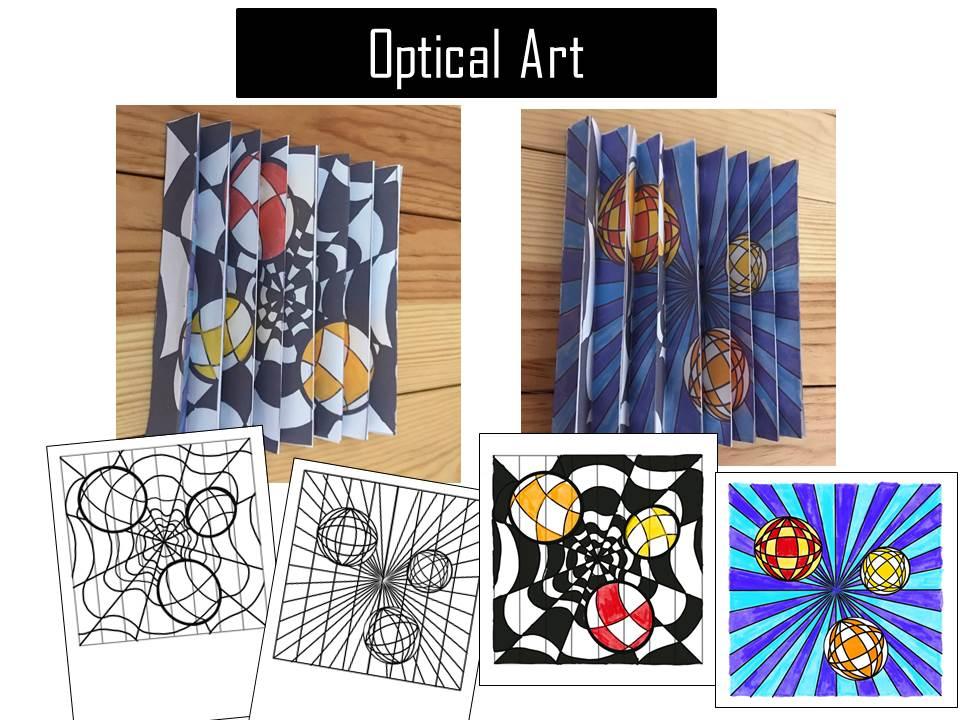 Optical illusion activity op Art