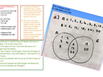 Venn Diagrams RAG 9-1 with Solutions