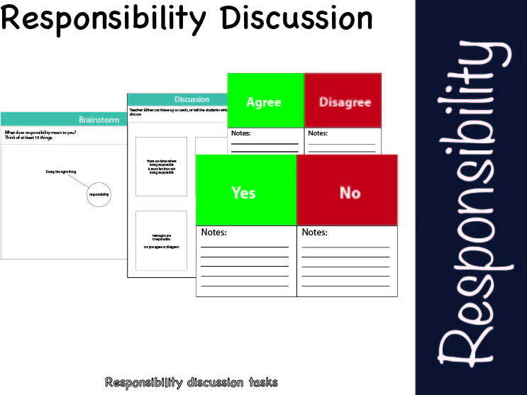 Responsibility discussion tasks
