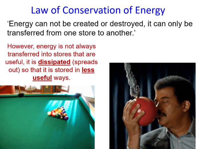 GCSE Physics Energy Stores and Transfers full lesson (Edexcel 9-1 SP3a CP3a) Conservation of Energy