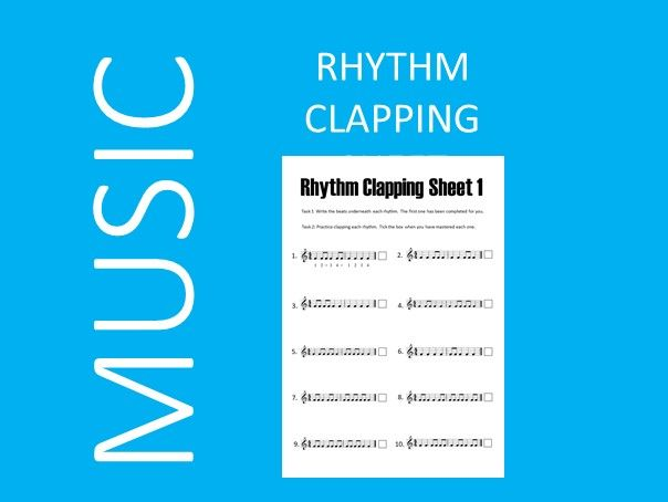 Rhythm Clapping Sheet